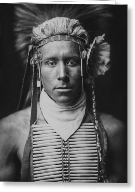 Curtis Greeting Cards - Indian of North America circa 1905 Greeting Card by Aged Pixel