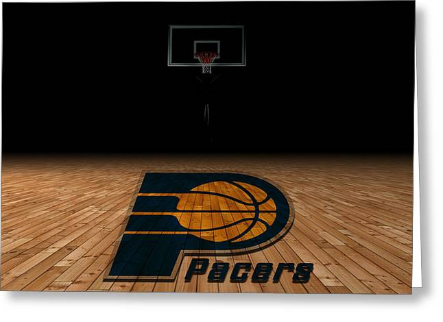 Ncaa Greeting Cards - Indiana Pacers Greeting Card by Joe Hamilton