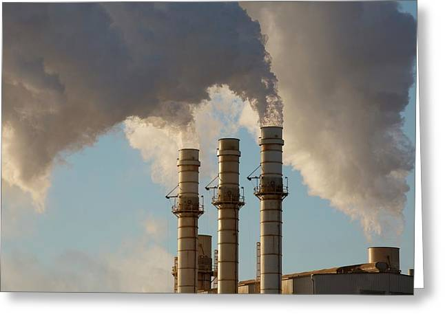 Industrial Power Station Greeting Card by Jim West