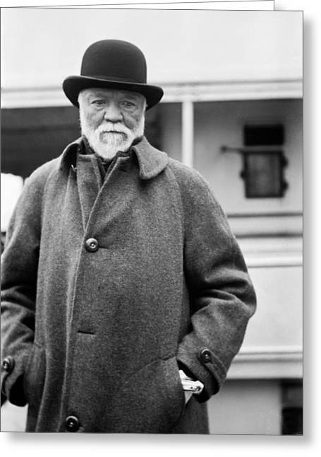 Hand In Pocket Greeting Cards - Industrialist Andrew Carnegie Greeting Card by Underwood Archives