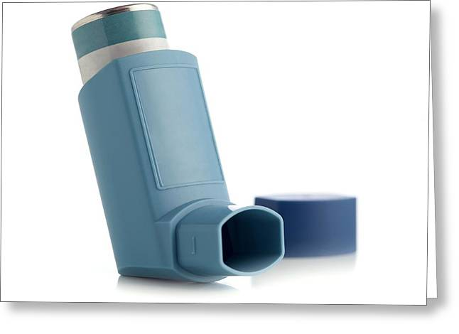 Inhaler Greeting Card by Science Photo Library