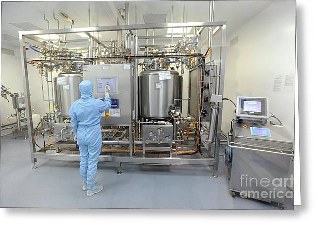 Manufacturing Greeting Cards - Insulin Production Plant Greeting Card by Ria Novosti