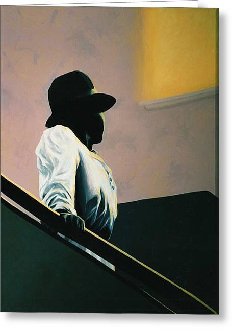 Bannister Paintings Greeting Cards - Into The Light Greeting Card by Carrie Auwaerter