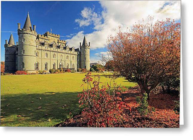 Scottish Scenic Greeting Cards - Inveraray castle Greeting Card by Grant Glendinning