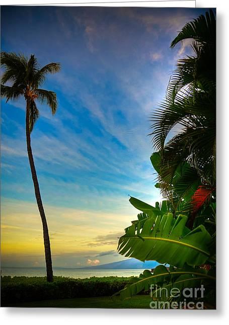 Lahaina Greeting Cards - Island Sunrise Greeting Card by Kelly Wade