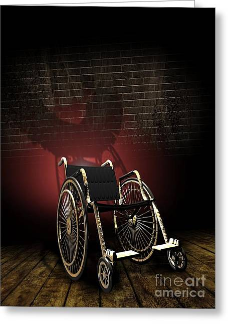 Social Exclusion Greeting Cards - Isolation Through Disability, Artwork Greeting Card by Victor Habbick Visions