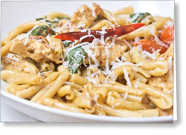 Blue Bowl Greeting Cards - Italian dish Greeting Card by Tom Gowanlock
