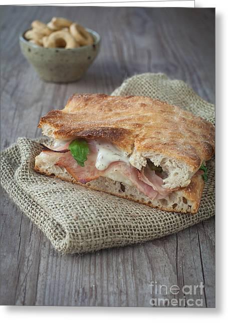 Italian Meal Greeting Cards - Italian sandwich Greeting Card by Sabino Parente