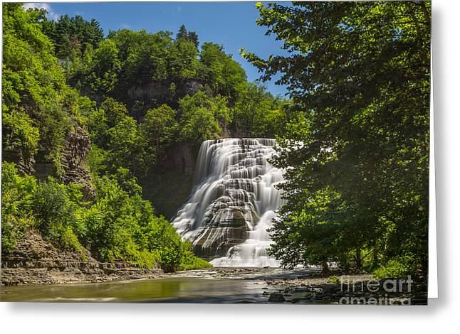 Ithaca Greeting Cards - Ithaca Falls Greeting Card by John Naegely