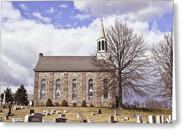 Steeple Mixed Media Greeting Cards - Its A Beautiful Day Greeting Card by Trish Tritz