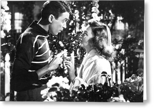 Donna Greeting Cards - Its a Wonderful Life  Greeting Card by Silver Screen