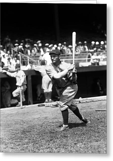 Baseball Game Greeting Cards - Jackson R. Riggs Stephenson Greeting Card by Retro Images Archive