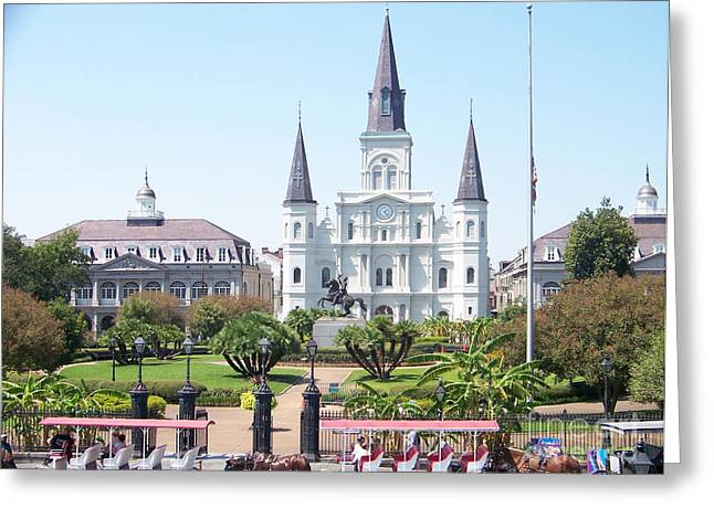 Kevin Croitz Greeting Cards - Jackson Square Greeting Card by Kevin Croitz
