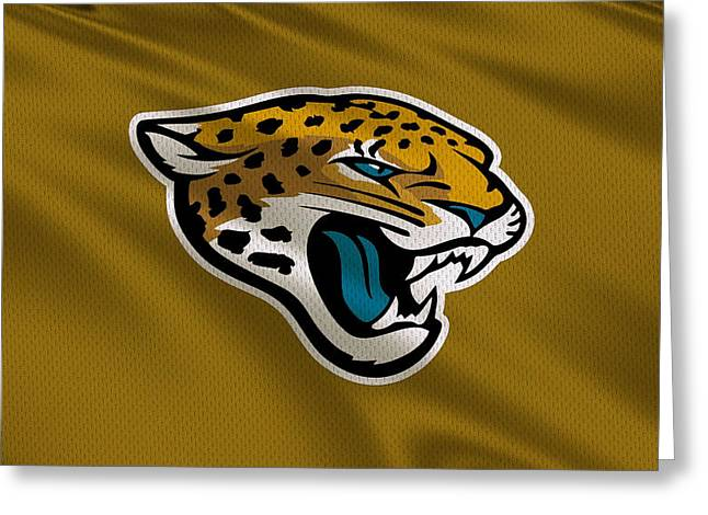 Jacksonville Greeting Cards - Jacksonville Jaguars Uniform Greeting Card by Joe Hamilton