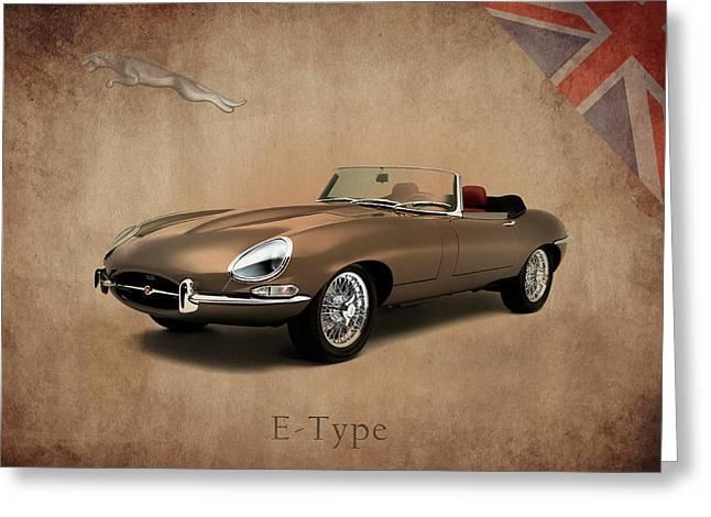 Jaguars Greeting Cards - Jaguar E Type Greeting Card by Mark Rogan