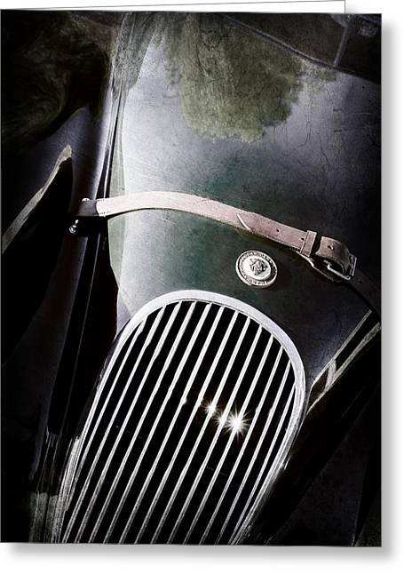 Jaguars Greeting Cards - Jaguar Hood Emblem - Grille Greeting Card by Jill Reger