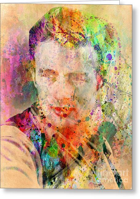 80s Pop Music Greeting Cards - James Dean Greeting Card by Mark Ashkenazi