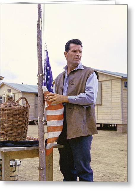 Garner Greeting Cards - James Garner in The Great Escape Greeting Card by Silver Screen