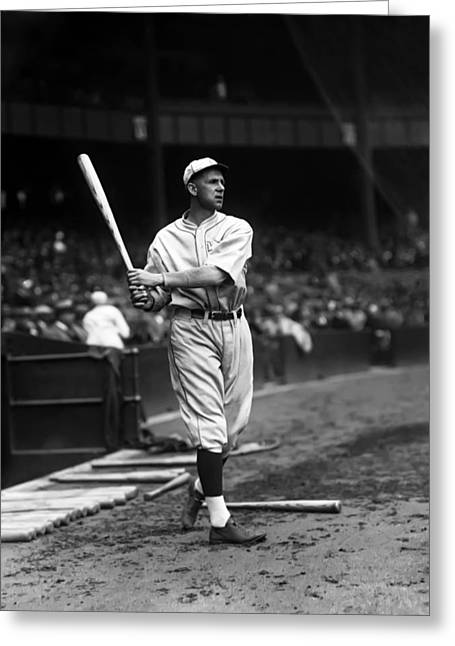 Baseball Bat Greeting Cards - James R. Jim Poole Greeting Card by Retro Images Archive