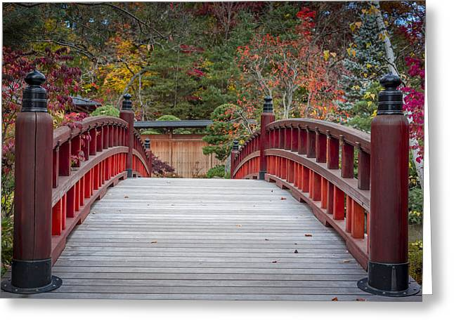 Best Sellers -  - Modern Photographs Greeting Cards - Japanese Bridge Greeting Card by Sebastian Musial