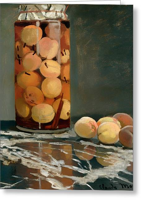Jar Of Peaches Greeting Card by Mountain Dreams