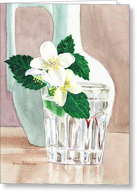 Pollen Greeting Cards - Jasmine Greeting Card by Irina Sztukowski