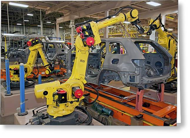 Jeep Grand Cherokee Assembly Line Greeting Card by Jim West