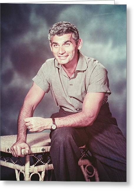 Jeff Photographs Greeting Cards - Jeff Chandler Greeting Card by Silver Screen
