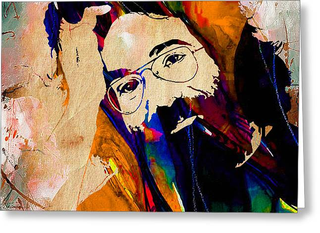 Grateful Dead Greeting Cards - Jerry Garcia Greeting Card by Marvin Blaine