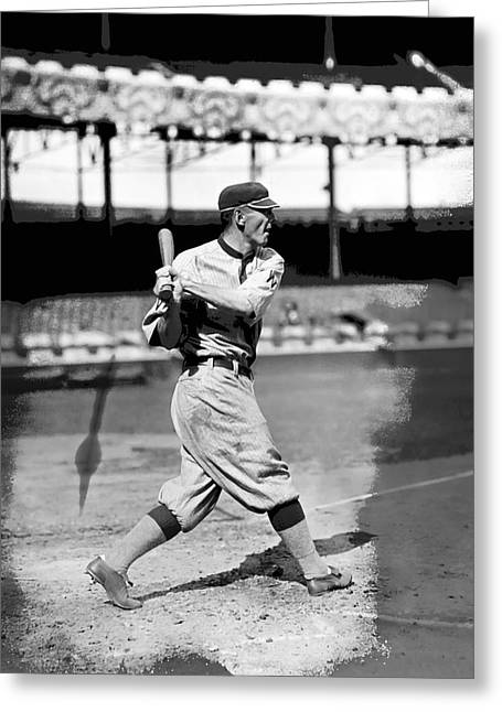 American League Greeting Cards - Jesse C. Clyde Milan Greeting Card by Retro Images Archive