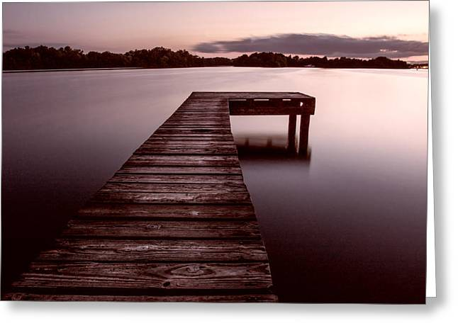 Sienna Greeting Cards - Jetty at Dusk - The Netherlands Greeting Card by Mountain Dreams