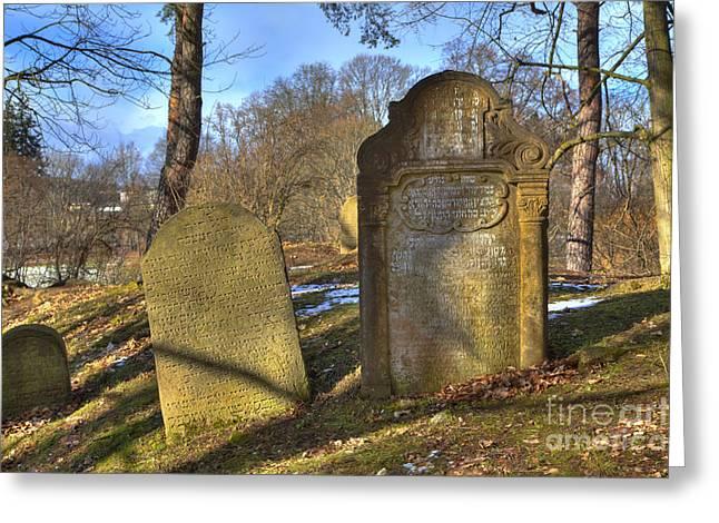 Czechia Greeting Cards - Jewish cemetery Greeting Card by Regina Koch