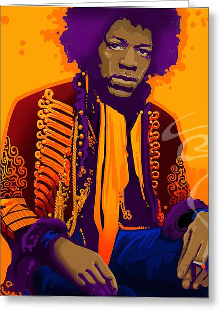 Jimi Hendrix Drawings Greeting Cards - Jimi Hendrix Greeting Card by Craig Carl