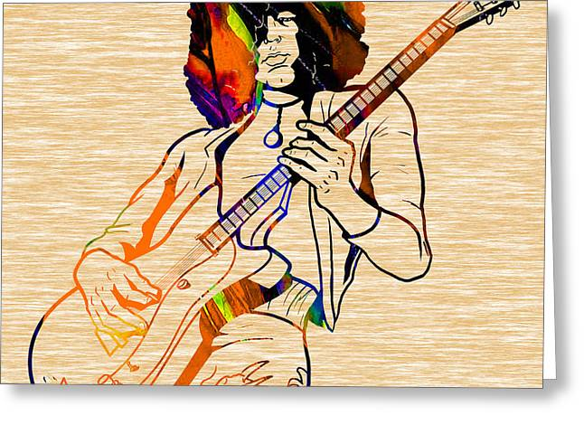 Jimmy Greeting Cards - Jimmy Page Collection Greeting Card by Marvin Blaine