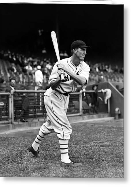 Baseball Bat Greeting Cards - Joe G. Moore Greeting Card by Retro Images Archive