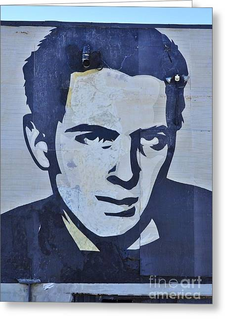 The Clash Greeting Cards - Joe Strummer Greeting Card by Allen Beatty