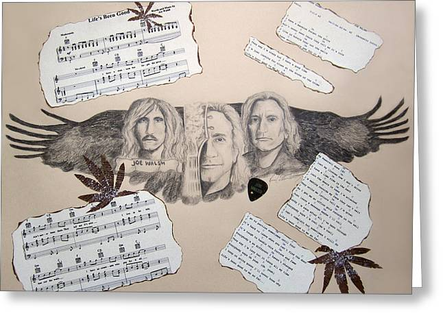 100 Greatest Guitarists Of All Time Greeting Cards - Joe Walsh Good Life Greeting Card by Renee Catherine Wittmann