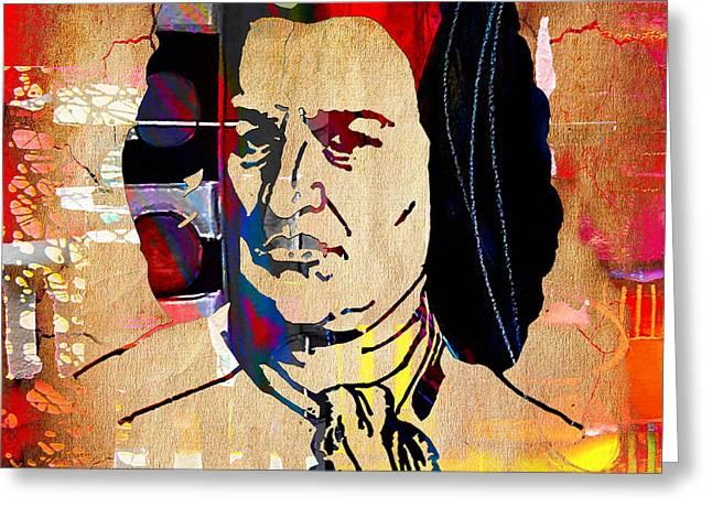 Johann Sebastian Bach Greeting Cards - Johann Sebastian Bach Collection Greeting Card by Marvin Blaine