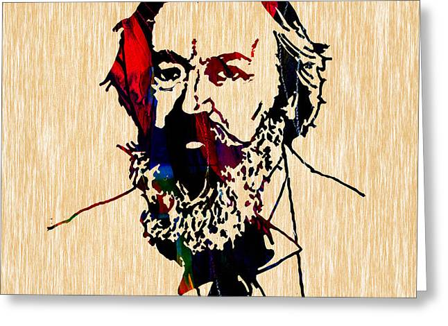 Brahms Greeting Cards - Johannes Brahms Collection Greeting Card by Marvin Blaine