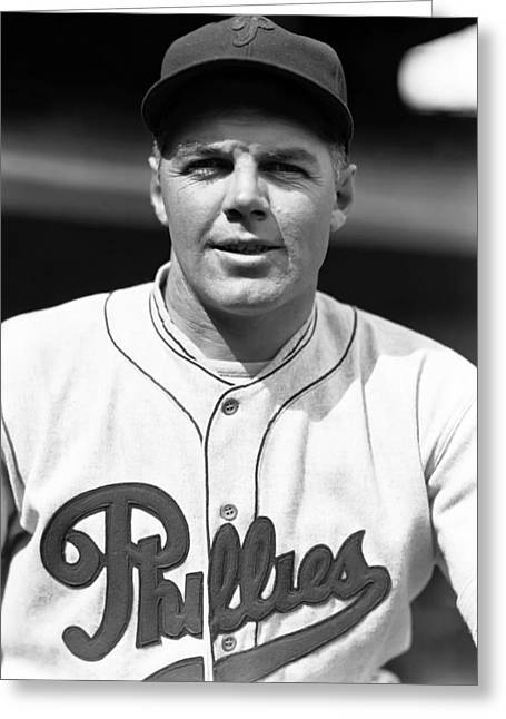 Phillies Greeting Cards - John F. Johnny Moore Greeting Card by Retro Images Archive
