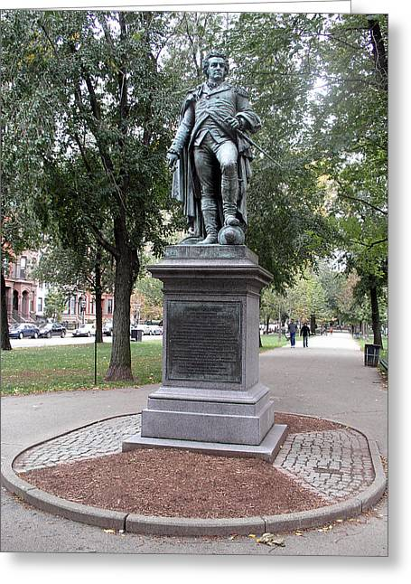 Statue Portrait Photographs Greeting Cards - John Glover (1732-1797) Greeting Card by Granger