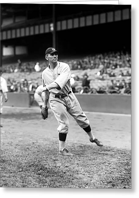 Baseball Game Greeting Cards - John H. Johnny Neun Greeting Card by Retro Images Archive