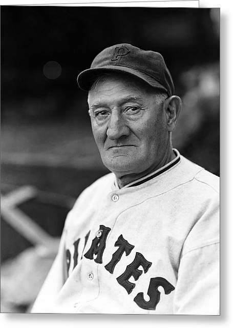 Hall Of Fame Baseball Players Greeting Cards - John P. Honus Wagner Greeting Card by Retro Images Archive