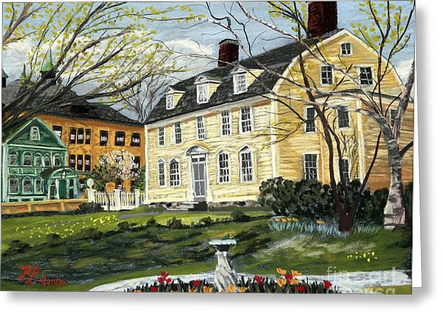 First Family Pastels Greeting Cards - John Paul Jones House Greeting Card by Francois Lamothe