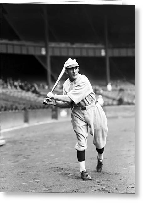 Baseball Game Greeting Cards - John T. Jack Tobin Greeting Card by Retro Images Archive