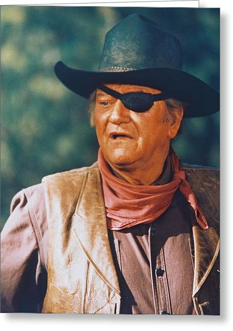 Recently Sold -  - 1960 Greeting Cards - John Wayne in True Grit  Greeting Card by Silver Screen
