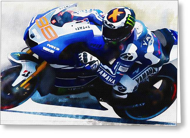 Roberto Greeting Cards - Jorge Lorenzo - fastest lap Greeting Card by Don Kuing
