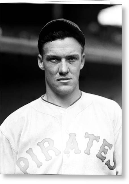 Pittsburgh Pirates Greeting Cards - Joseph F. Arky Vaughan Greeting Card by Retro Images Archive