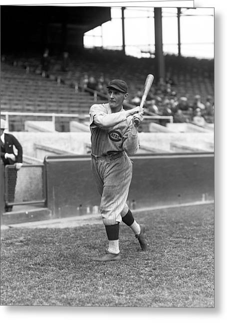 Baseball Game Greeting Cards - Joseph V. Joe Stripp Greeting Card by Retro Images Archive