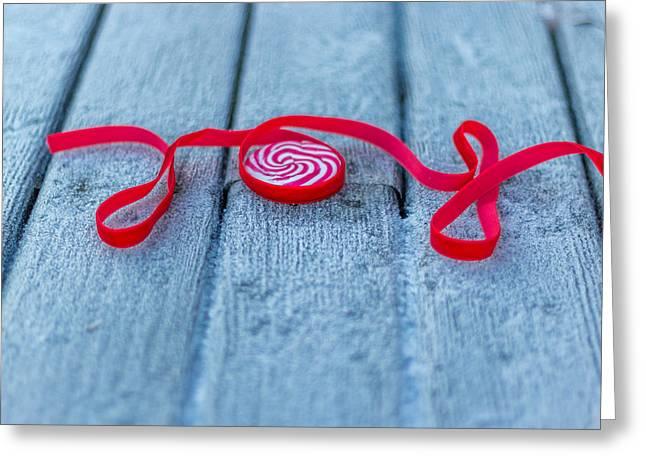 Christmas Greeting Cards - Joy Greeting Card by Aldona Pivoriene